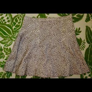 Parker animal print mini skirt